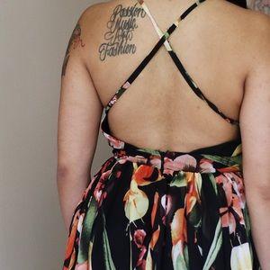 Luxxel Dresses - Luxxel Floral Hi-Lo Maxi Dress